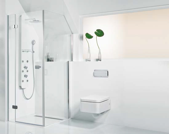 Browse: Home / Bespoke Shower Enclosures / Hsk Bespoke Shower Door With Cut  Out